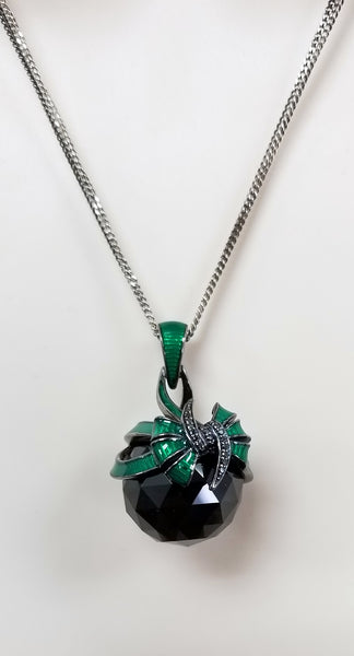Stephen Webster Forget Me Knot fashion rock green enamel Bow necklace in silver