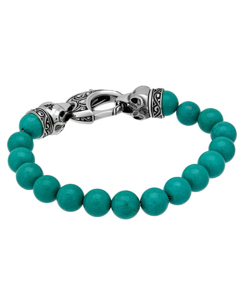 Stephen Webster London Calling bracelet Oxidised silver & 10 mm turquoise beads