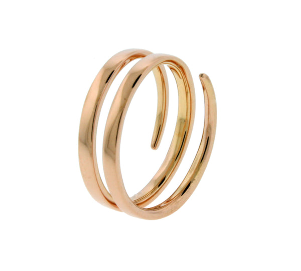 Anitako 18k rose gold coil ring size 6
