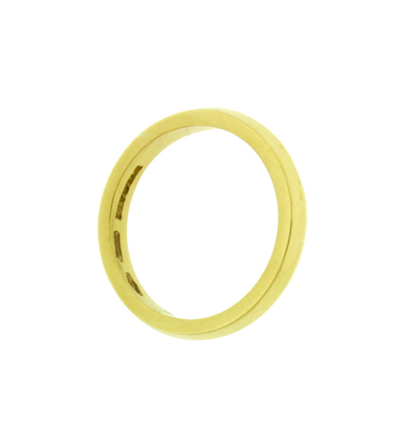 BVLGARI AN181301 FEDI 3 mm wide wedding band ring in 18k yellow gold size 7