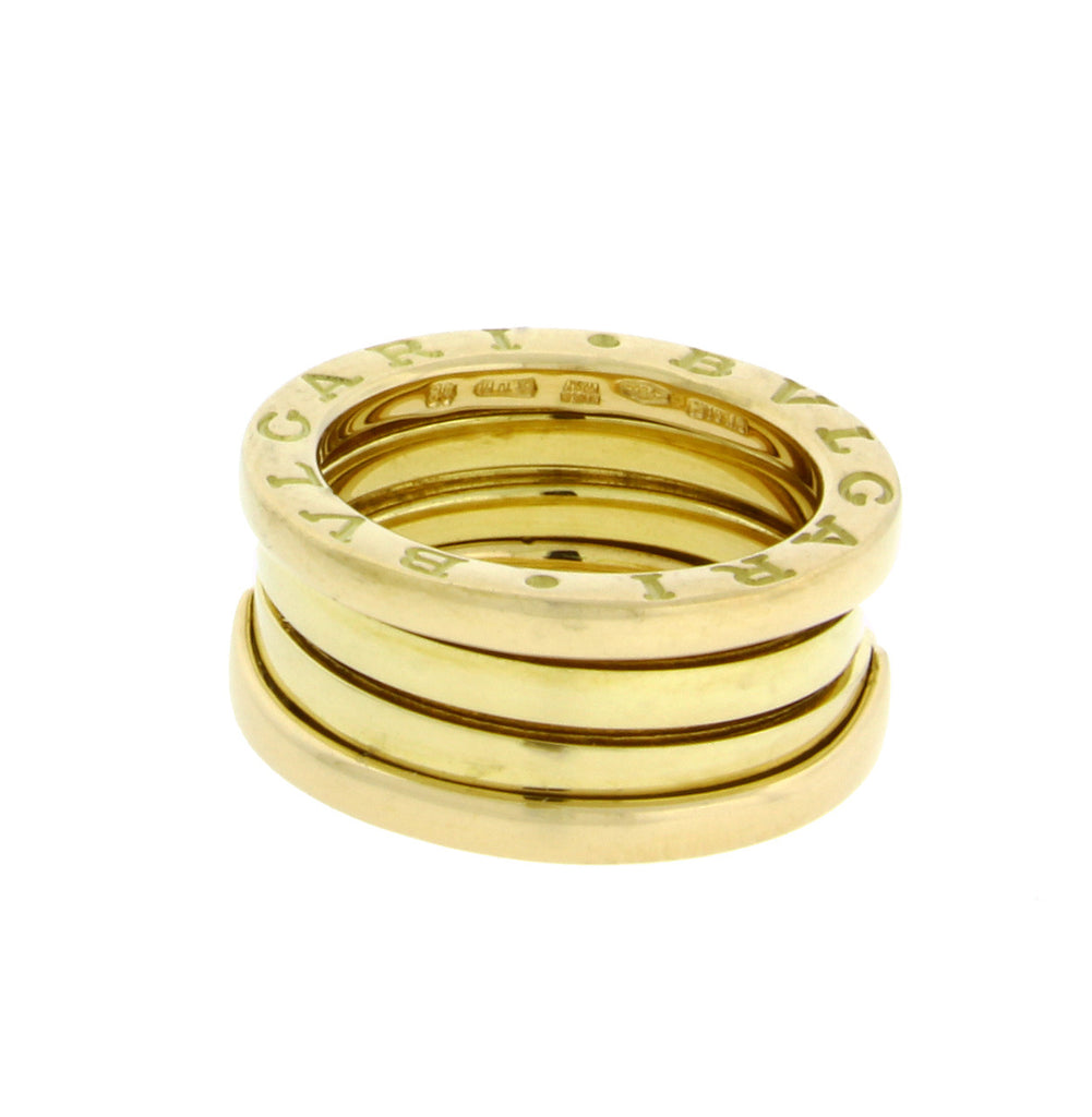 Bvlgari B.ZERO1 3 band ring in 18k yellow gold size 50