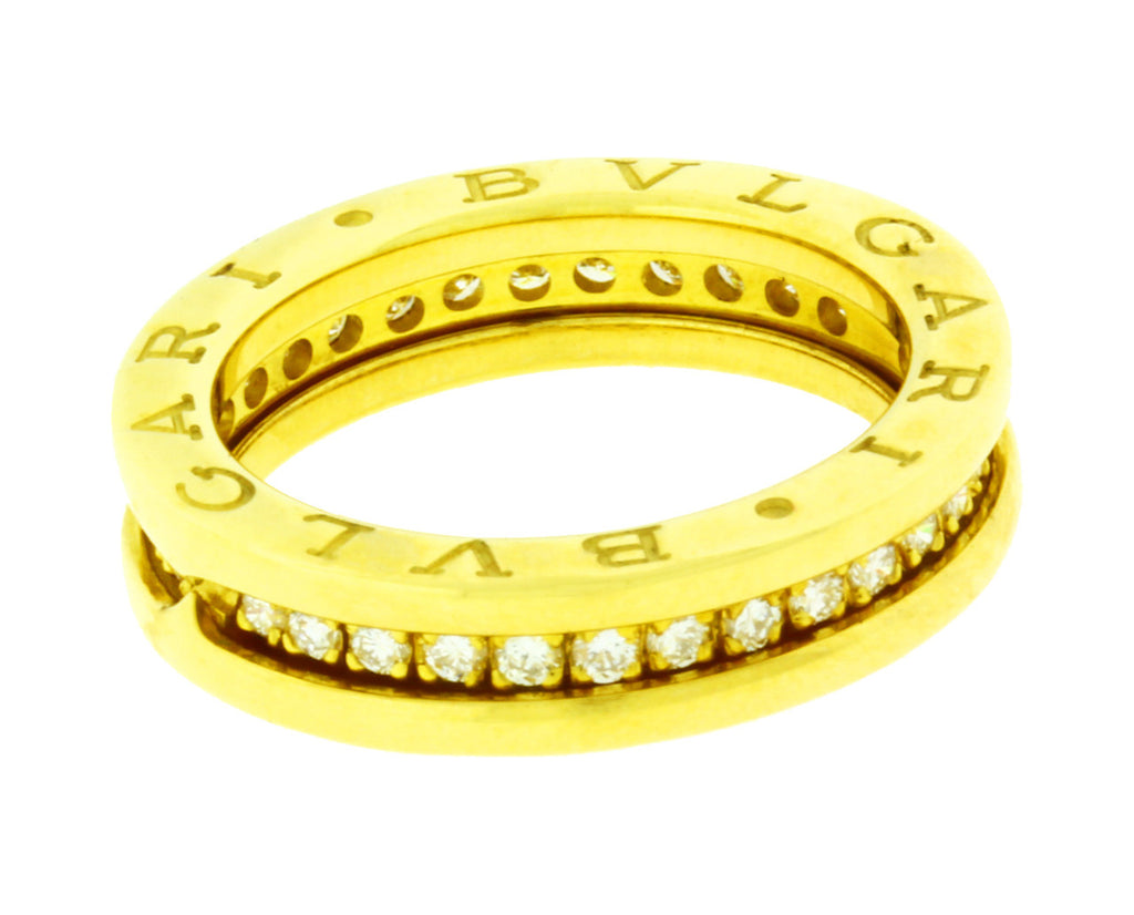 Bvlgari diamond eternity B.ZERO1 ring in 18k gold, size 50, US 5.25