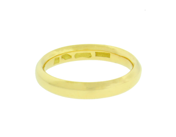 BVLGARI 3 mm wide band ring in 18k yellow gold size 9