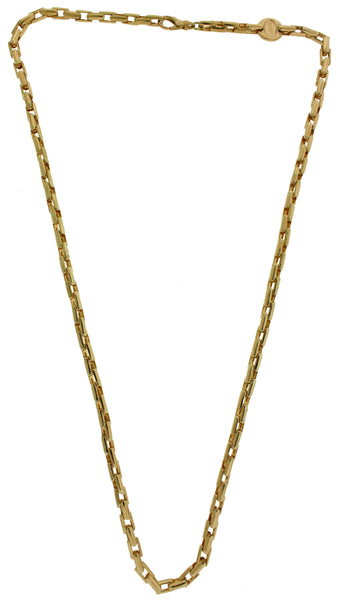 Baraka 18k rose gold heavy link Men's necklace used in good condition