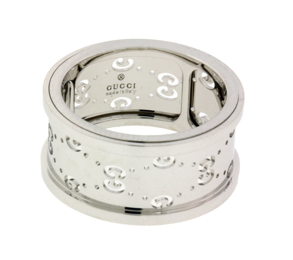Gucci spinning ring in 18k white gold size 13 USA 6.25