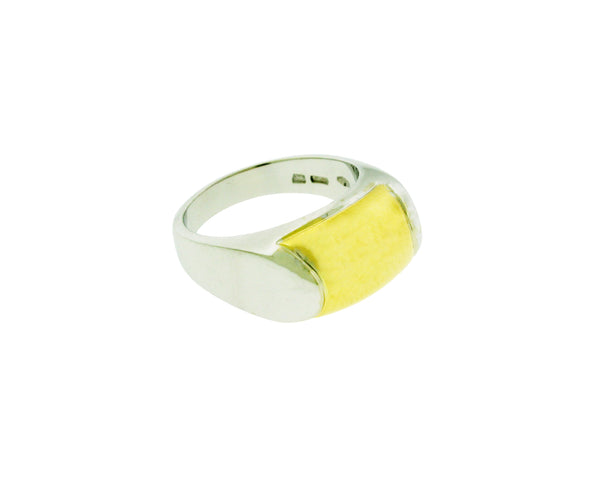 Bvlgari AN007732  Tronchetto Logo Bulgari ring in 18k 2 tone gold