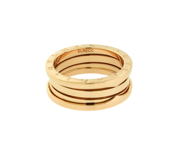 Bvlgari B.ZERO1 3 band ring in 18k rose gold AN852405 size 55 - USA 7.25