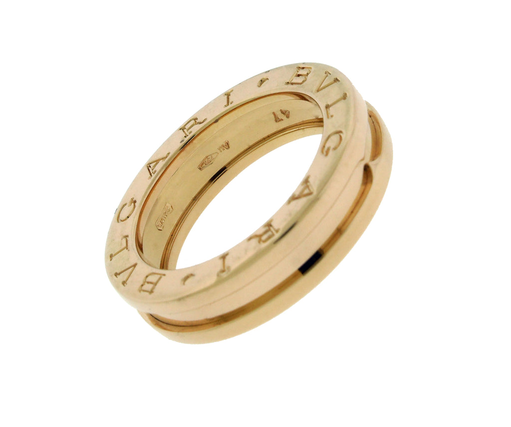 Bvlgari B.ZERO1 1 band ring In 18k rose gold size 47 USA 4.25