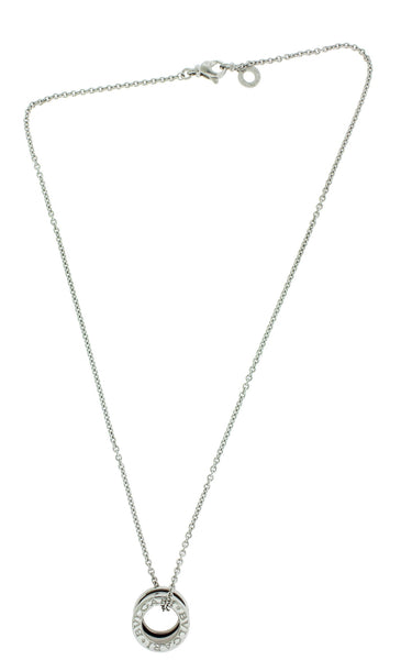 Bvlgari B.ZERO1 Womens Necklace Pendant In 18k White Gold 16""