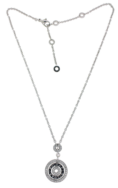 Bvlgari Bulgari Cerchi 18k white gold pave Diamond necklace