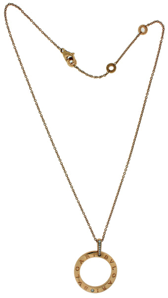 Bvlgari Bvlgari 18k rose gold diamond necklace