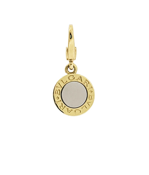 Bvlgari Bvlgari Charm in 18k 2 tone white and yellow gold