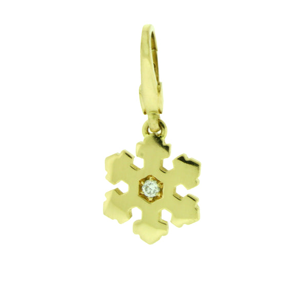 Bvlgari diamond Snowflake Charm / Pendant in 18 karat yellow gold