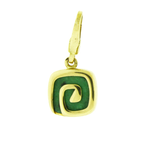 Bvlgari green Charm / Pendant in 18 karat yellow gold