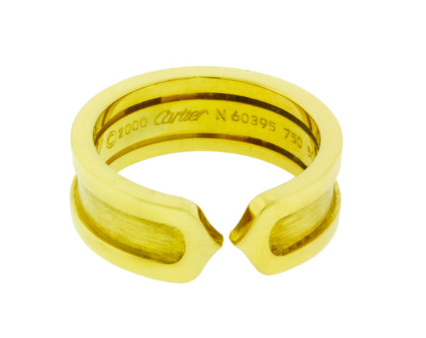 Cartier C2 ring in 18k Yellow gold size 50 US 5.5 preowned