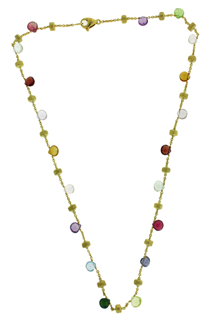 Marco Bicego Paradise  women's 18K Yellow Gold & Mixed Stone Necklace 16""