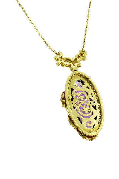 Carrera y Carrera Emperatriz Cascada Maxi 18K Gold Diamond & Amethyst Necklace
