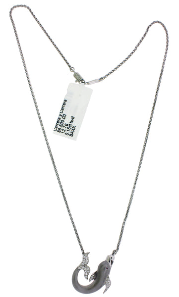 Carrera y Carrera diamond Dolphin Necklace In 18k white Gold