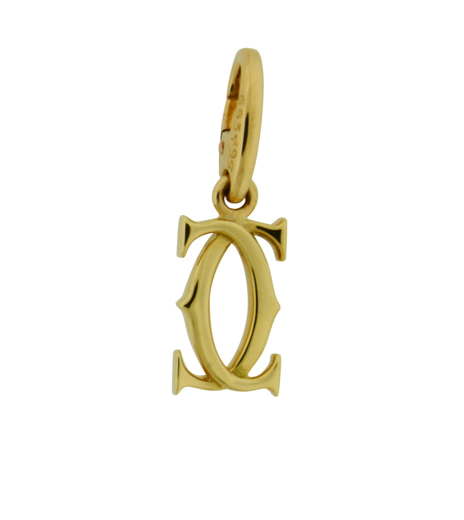 Cartier 2 C or Double C pendant / charm in 18K yellow gold