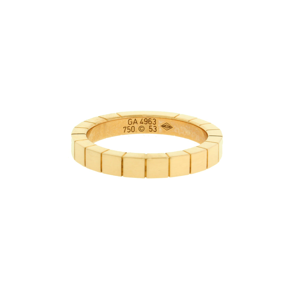 2ae0ded7c5db1 Cartier Lanieres 18k yellow gold band ring size 52 (US 6)