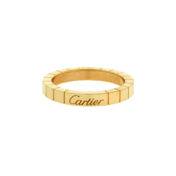 Cartier Lanieres 18k yellow gold band ring size 52 (US 6)