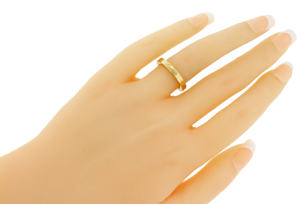 ring gold diamond bands band wedding yellow round womens