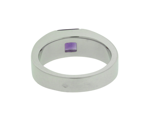Cartier Tank Amethyst Ring in 18K White Gold Size 50 USA 5.25