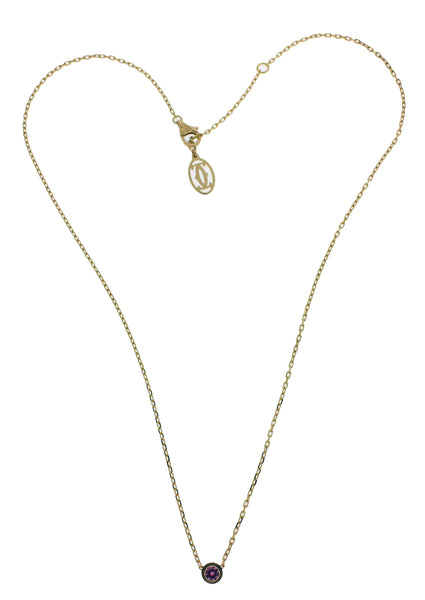 Cartier pink sapphire necklace in 18k rose gold with certificate