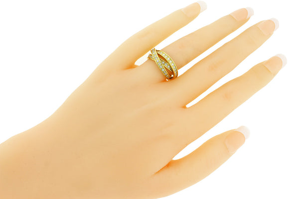 Cartier Women's VS - G Diamond Trinity Ring In 18k Yellow Gold size 5.25