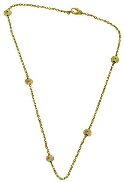 Cartier women's 18k 3 Tone Rose, White, Yellow Gold Trinity necklace 16""