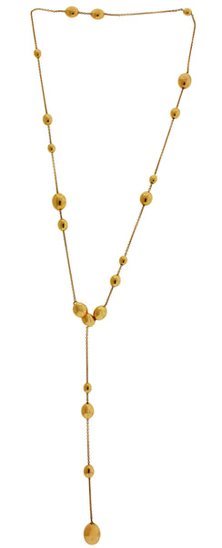 Chimento Armillas Acqua 18k pink gold lariat necklace with diamond