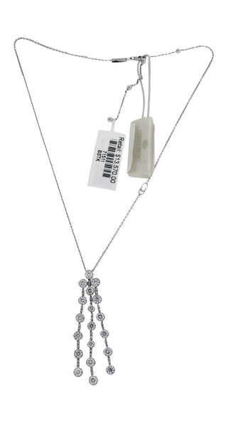 Chimento Maria  2.91 ct diamond dangle necklace in 18 white gold