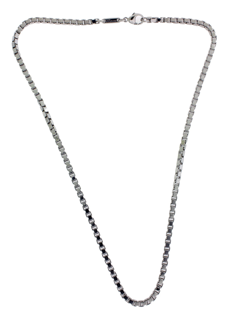 Chopard 2.9mm box chain Necklace in 18k white gold 16.5""