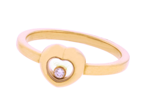 Chopard 829006-5110 Happy Diamond ring in 18k rose gold new in box size 6