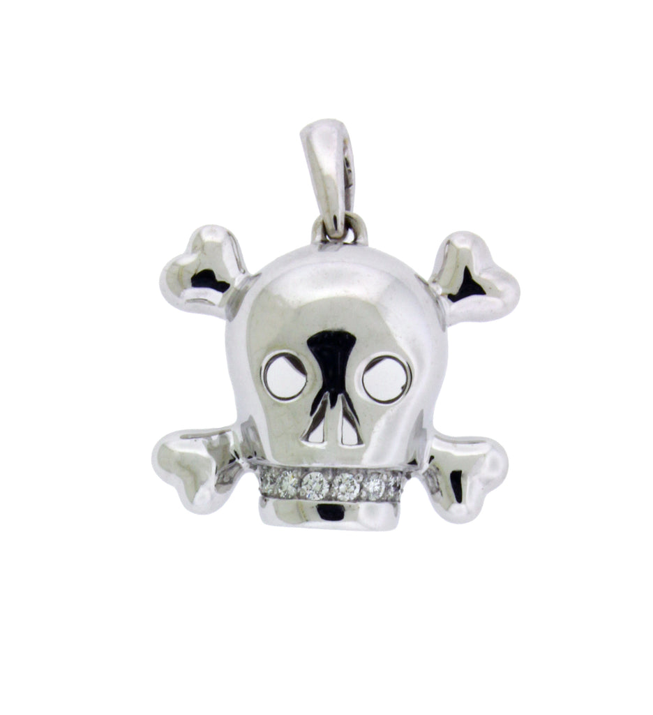 Christian Dior diamond Skull pendant in 18k white gold