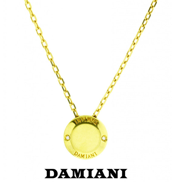 Damiani ladies VS1 G Diamond Necklace in 18K yellow gold 100% Authentic NIB