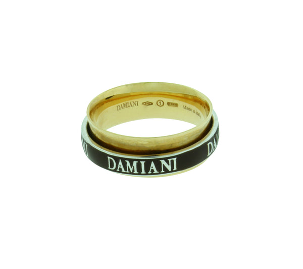 Damiani 18K Rose Gold Twister Double Band Diamond Ring size 7.5
