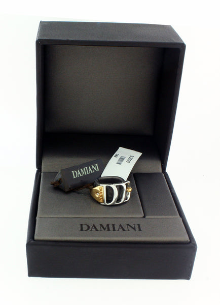 Damiani Damianissima diamond ring in 18 karat pink & white gold size 7.25