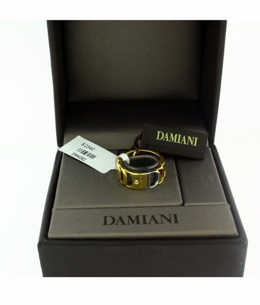 Damiani Damianissima diamond ring in 18 karat yellow & white gold size 7