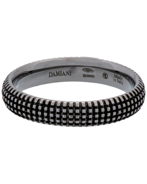 Damiani Metropolitan dream 1 diamond 5mm band ring in 18k black gold size 9