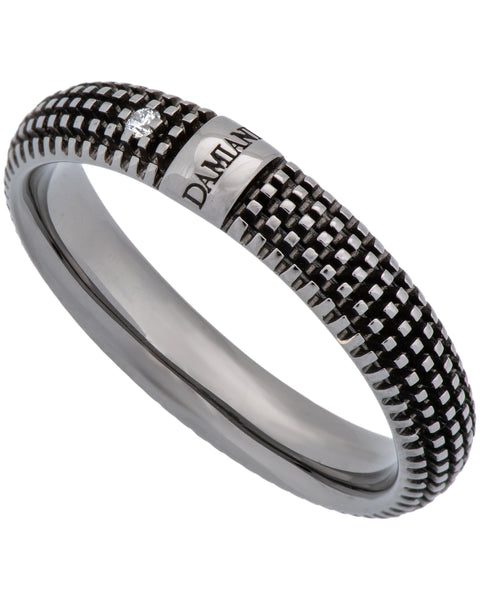 Damiani Metropolitan dream 1 diamond 5mm band ring in 18k black gold size 11