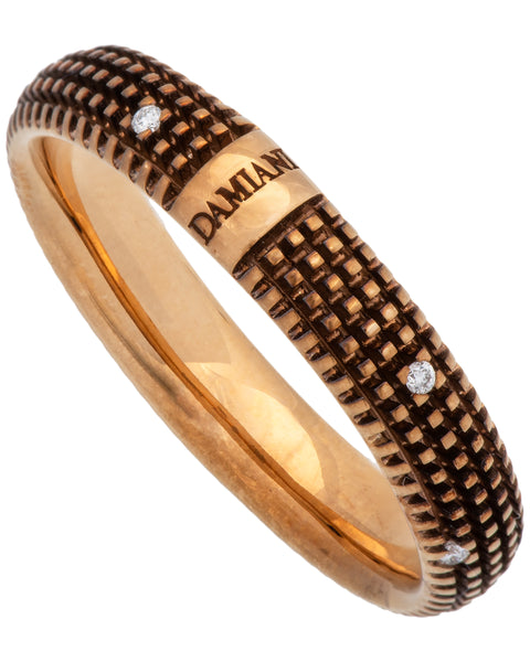 Damiani Metropolitan dream 9 diamond 5mm band ring in 18k rose gold size 11
