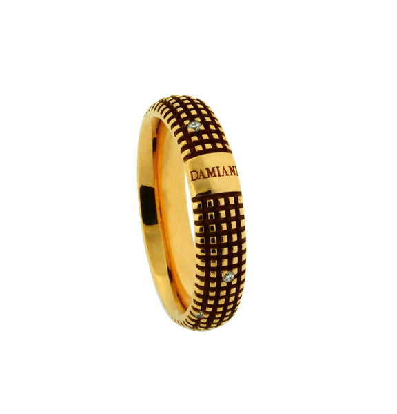 Damiani Metropolitan dream 9 diamond 5mm band ring in 18k yellow gold size 6