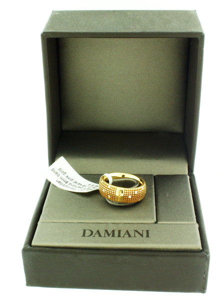 Damiani Metropolitan dream diamond 8mm band ring in 18 karat pink gold size 6.5