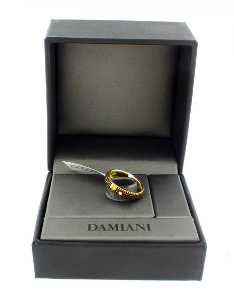 Damiani Metropolitan dream diamond 5mm band ring in 18k yellow gold size 7