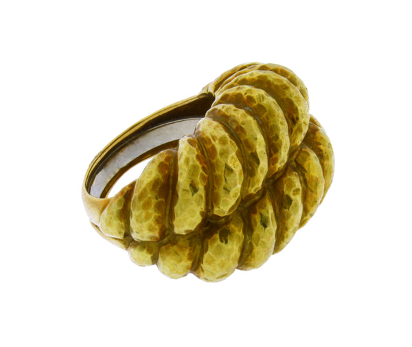 David Webb twist rope Shrimp ring in 18k yellow gold size 6.25