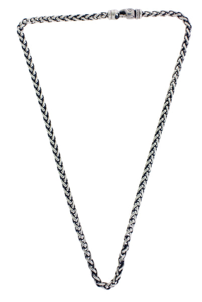 David Yurman 4 mm wheat chain in sterling silver 17 inches long