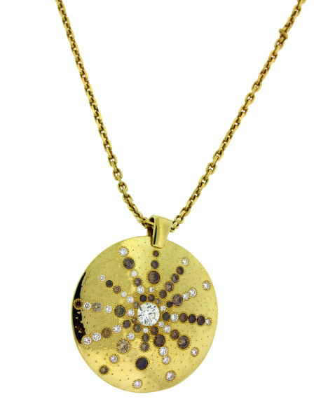 De Beers Talisman sun ray diamond necklace in 18k yellow gold