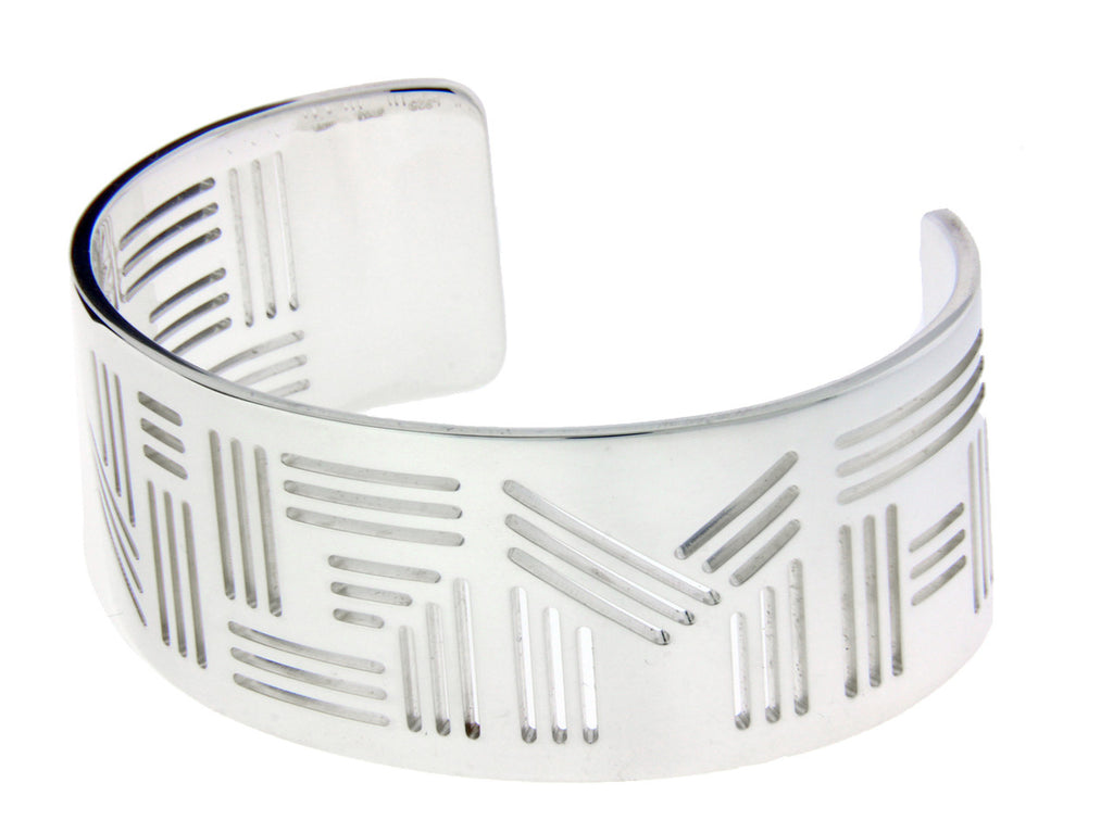 "Enigma By Bulgari ""ENIGMA LOGO"" bangle in sterling silver size Medium"