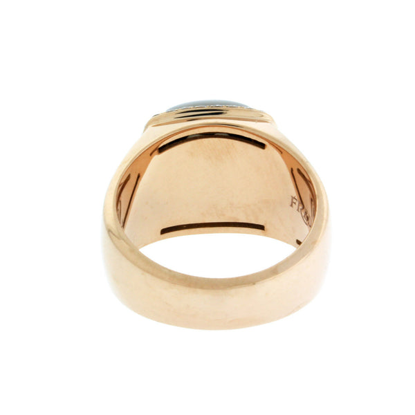 Fred Paris smokey quartz & diamond ring in 18k rose gold